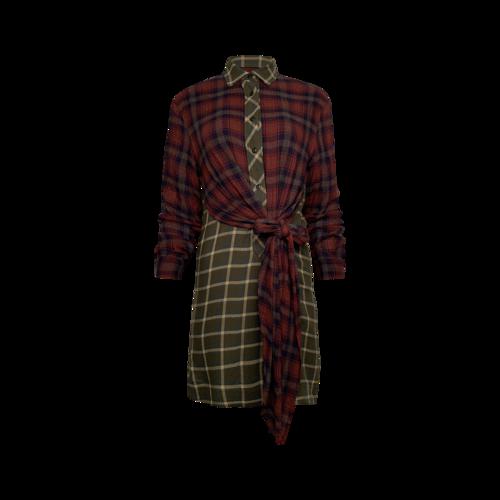 rag & bone Dual Print Plaid Shirt Dress