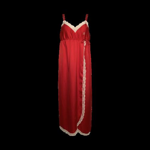 Givenchy Red Vintage Lace Trimmed Slip Dress