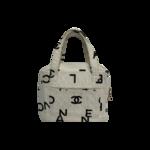 White Canvas Logo Mini Bag