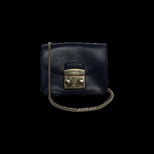 Furla Navy Blue Metropolis Mini Crossbody Bag