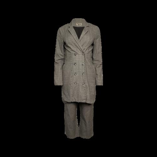 Show Me Your Mumu Grey 2-Piece Plaid Suit Set