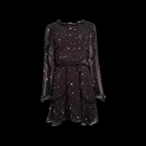 "Fame and Partners Black ""Kye"" Star Print Dress"