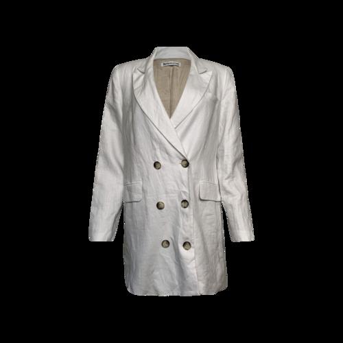 Reformation White Linen Blazer Dress