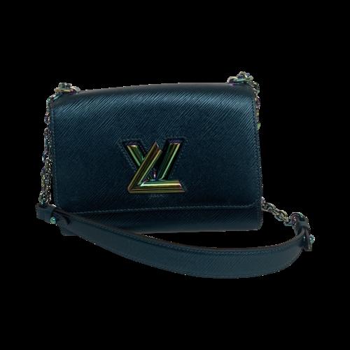 Louis Vuitton Blue Twist Epi Leather Handbag w/ Iridescent Hardware