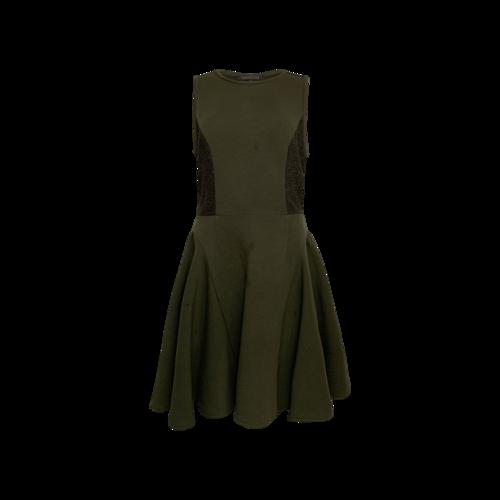 Timo Weiland Green Inez Brocade Flare Dress