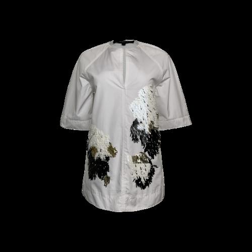 Derek Lam White Embellished Top