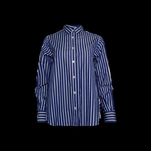 Sacai Blue Pinstripe Poplin Shirt