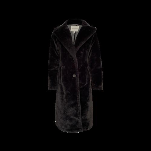Avec Les Filles Black Faux Fur Coat