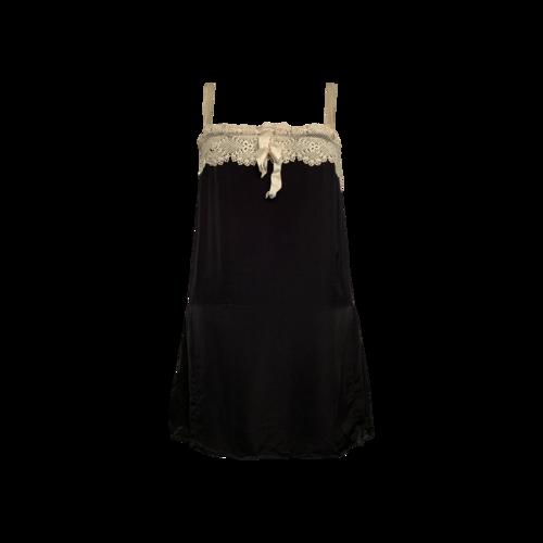 Ralph Lauren Black Silk and Crochet Mini Dress