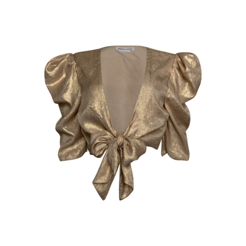 Lovers and Friends Gold Shimmer Front Tie Top