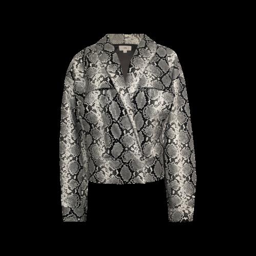 LPA Faux Python Print Sequin Jacket