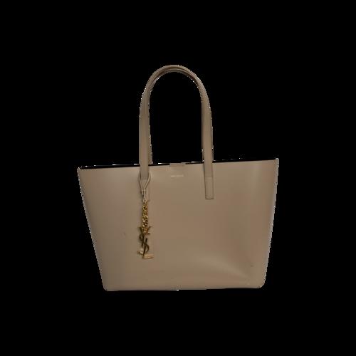 Yves Saint Laurent Beige Leather Tote Bag