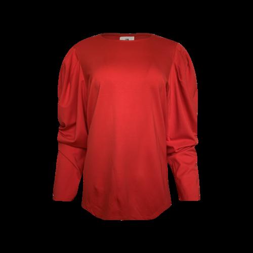 LPA Red Puff Sleeve Top