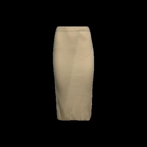 LPA Beige Ribbed Skirt