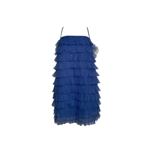 Lovers and Friends Blue Polka Dot Tiered Tulle Dress