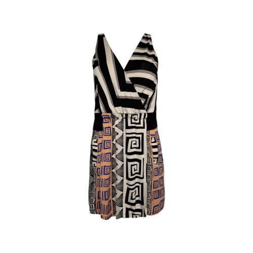 "Diane von Furstenberg ""Oblixe"" Mixed Print Wrap Dress"