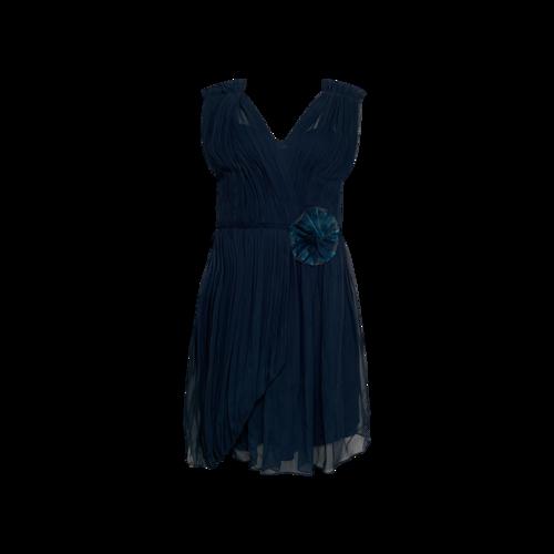 Vera Wang Teal Pleated Dress