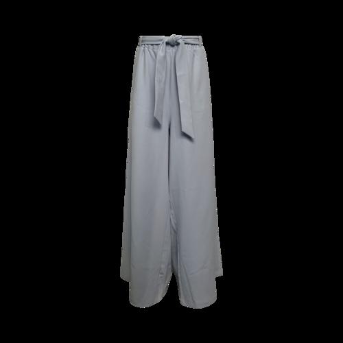 Eloquii Light Blue Wide Leg Tie Waist Pants