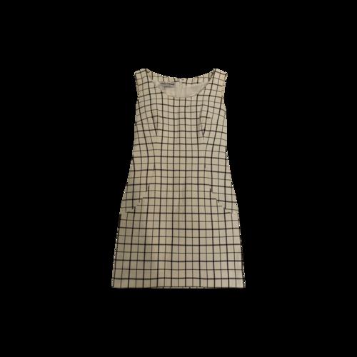 Dolce & Gabbana Windowpane Print Pencil Dress