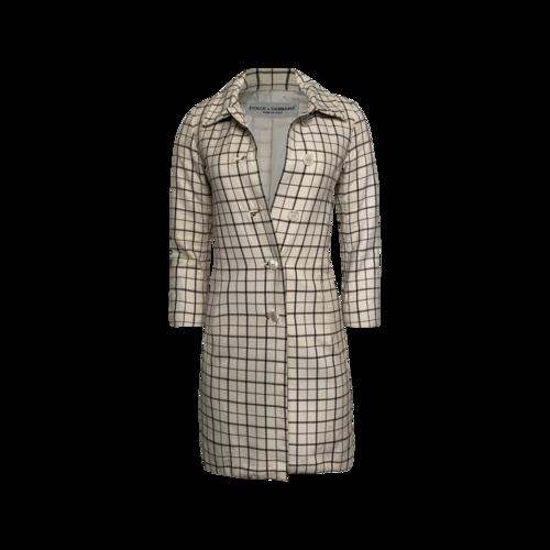 Dolce & Gabbana Windowpane Print Coat