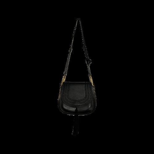 "Chloé Black ""Hudson"" Braided Leather Bag"