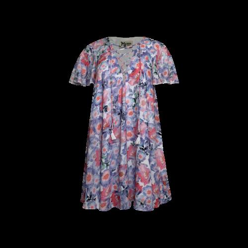 Show Me Your Mumu Floral Corset Front Tie Dress