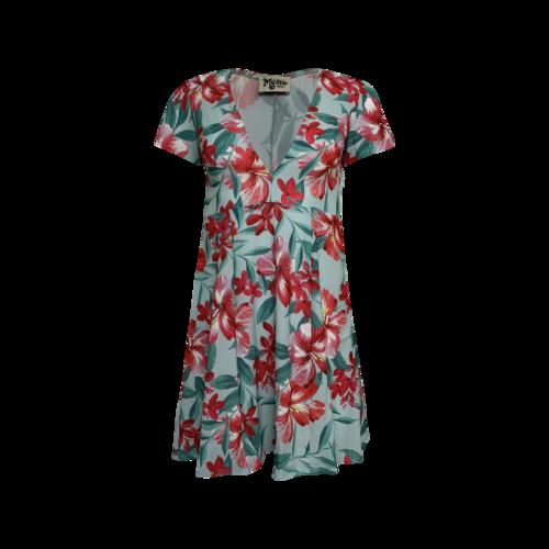 "Show Me Your Mumu 'Ibiza"" Dress in Guava Hibiscus Print"