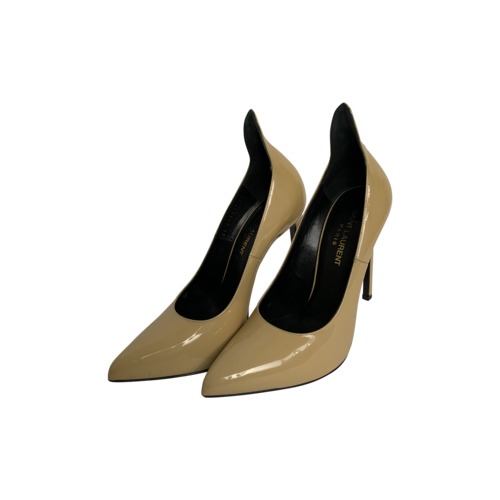 Yves Saint Laurent Nude Patent Leather Thorn Pumps