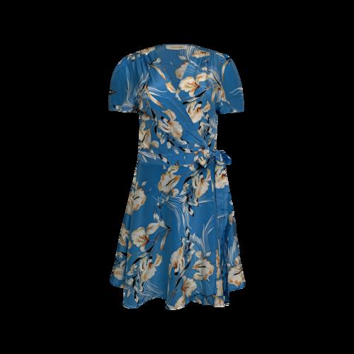 "Yumi Kim Bay Breeze Blue ""Kennedy"" Silk Print Wrap Dress"