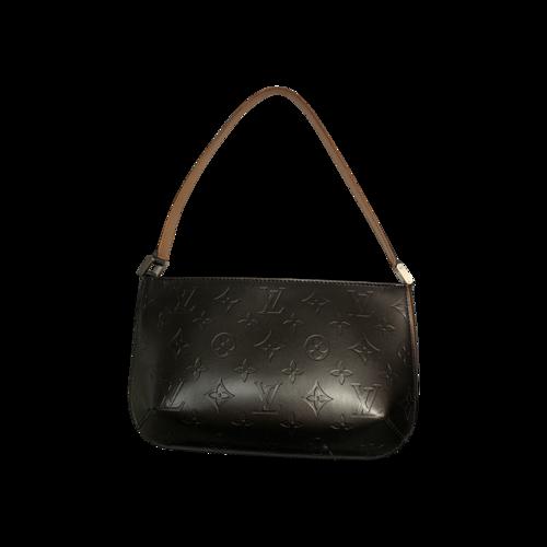 "Louis Vuitton Gunmetal Grey ""Fowler"" Shoulder Bag"