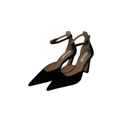 """The Fold Green """"Palermo"""" Ankle Strap Heels"""