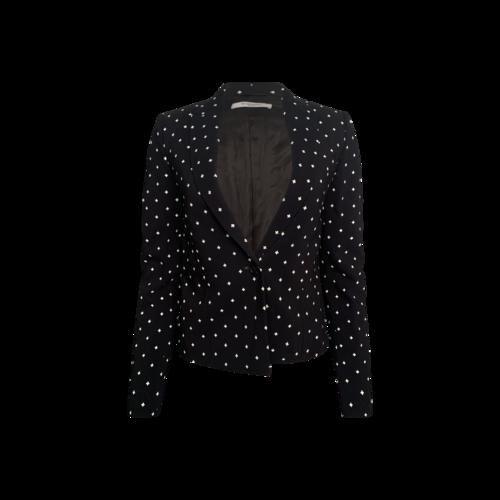 Givenchy Black Plus Sign Pattern Jacket