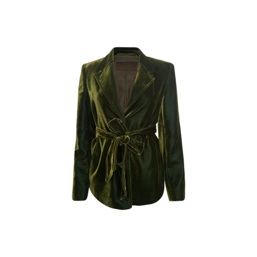 Prada Green Velvet Jacket