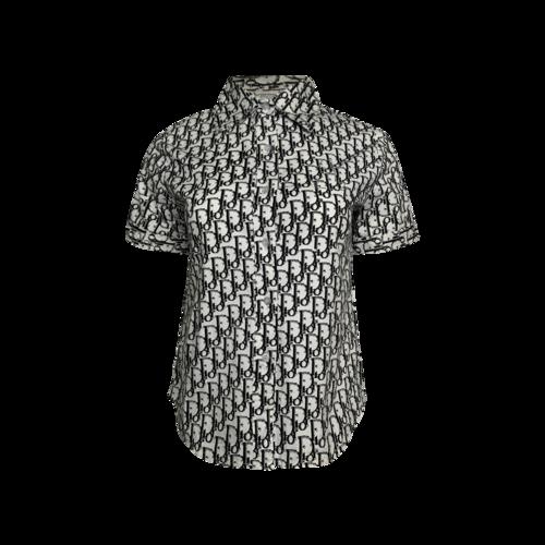 Dior Logo Short-Sleeve Button Up Shirt