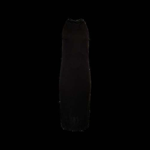 Ralph Lauren Black Mock Neck Midi Dress