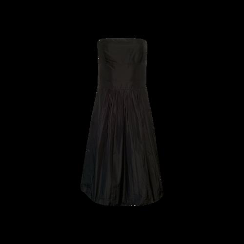 Theory Black Strapless Dress