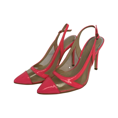 """Guess Neon Pink and Clear """"Chaffee"""" Slingback Pumps"""
