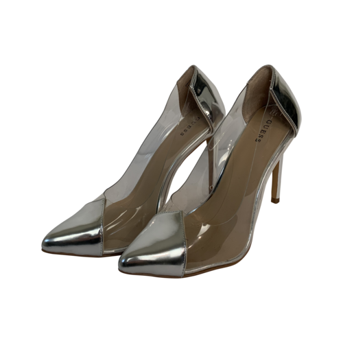 Guess Silver and Clear Pointed Pumps