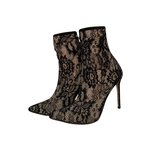 """Marciano Black """"Farrah"""" Lace Ankle Booties"""