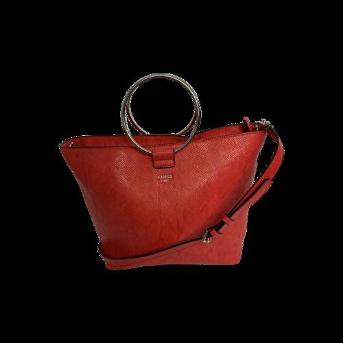 "Guess Red ""Keaton"" Large Shopper Bag"