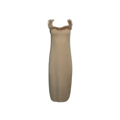 Lovers and Friends Nude Sparkle Stretch Midi Dress