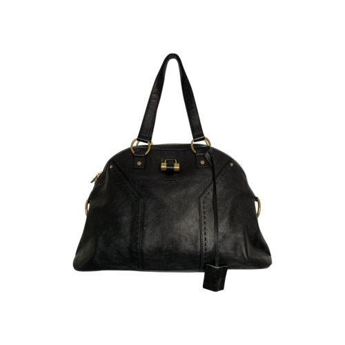 "Yves Saint Laurent Black ""Muse"" Dome Bag"