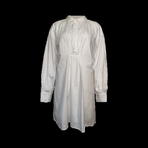 LPA White Cotton Shirt Dress