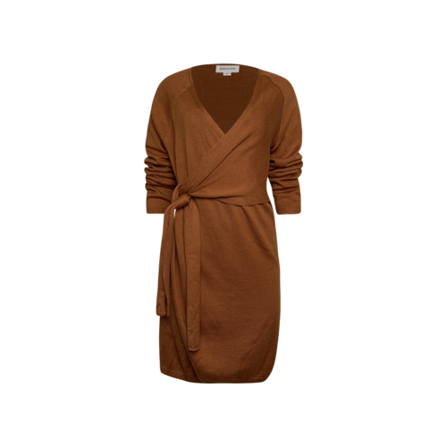 """Song of Style Tan """"Sammy"""" Wrap Dress"""