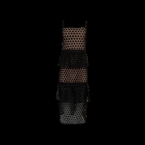 "NBD Black ""Dolores"" Midi Lace Dress"