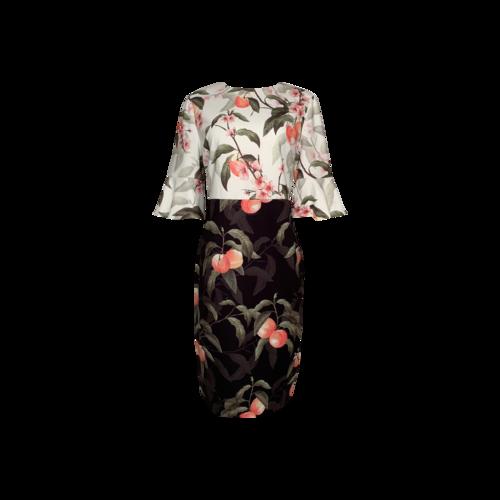 "Ted Baker ""Areea"" Peach Blossom Sheath Dress"