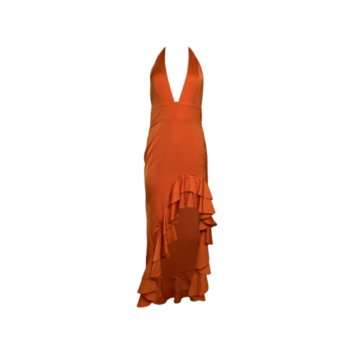 """Lovers and Friends Poppy Orange """"Fama"""" Gown"""