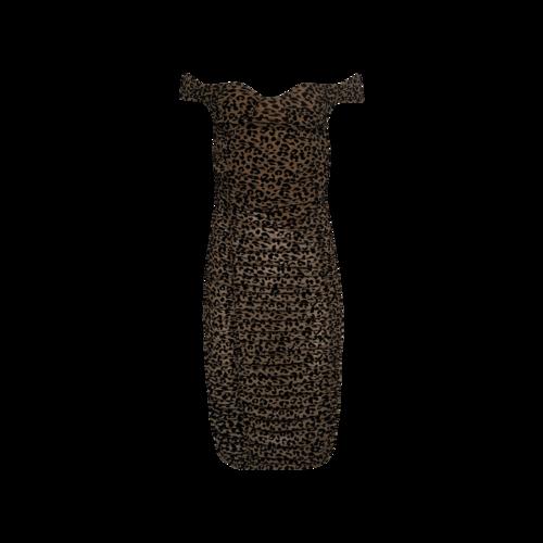 "Majorelle Leopard Print ""Tabitha"" Mini Dress"