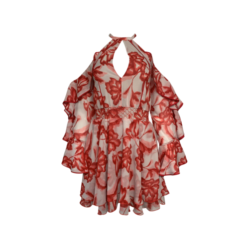 """House of Harlow 1960 Red Floral """"Harmony"""" Dress"""
