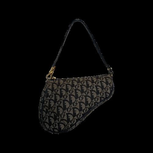 Dior Blue Monogram Mini Saddle Bag